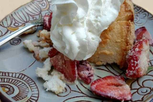 Rum Chata Strawberry Shortcake is a delicious treat.