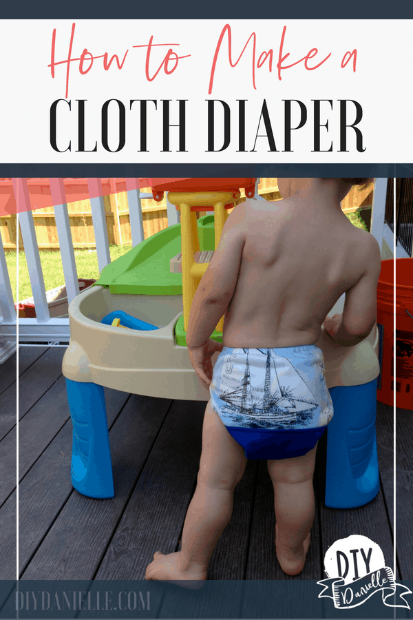 How to make a cloth diaper. Learn how to sew your own pocket diapers in this tutorial.