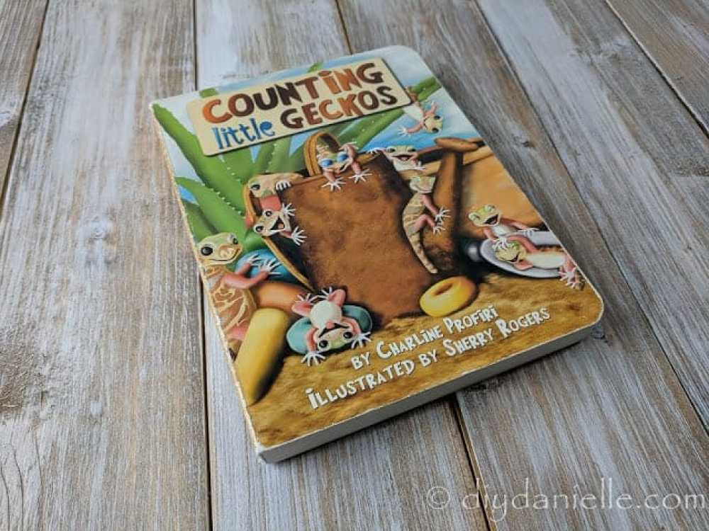 Counting Little Geckos is a fun book to learn counting!
