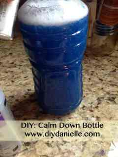 how to make your own calm down bottle for time outs