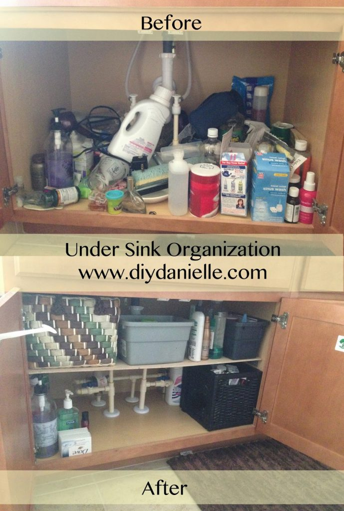 under sink organizer diy danielle. Black Bedroom Furniture Sets. Home Design Ideas