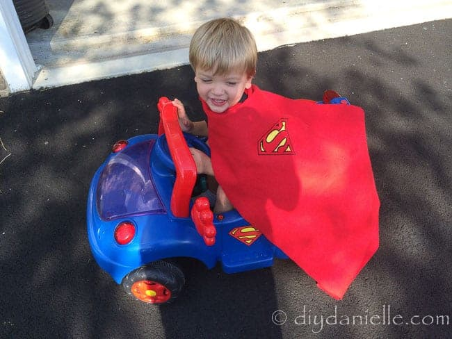 How to paint a ride on car. This DIY superhero car is a huge hit with the kids!