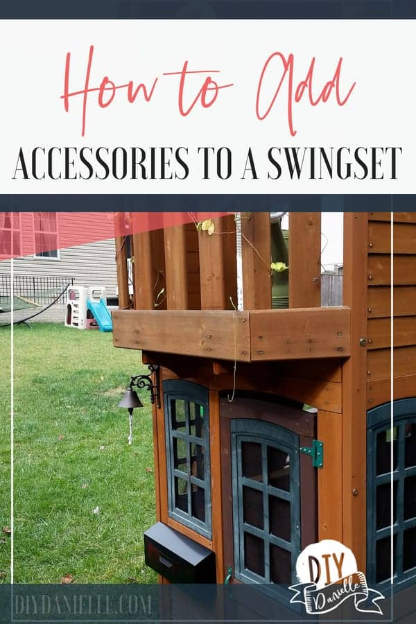 How to add custom swingset accessories without breaking the bank. These are such fun ideas for kids!