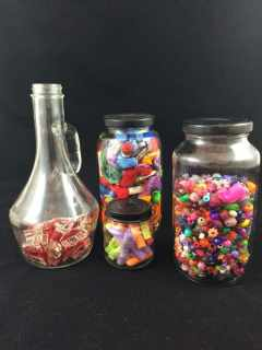 Upcycled Glass Jars to Beautiful Storage Solutions