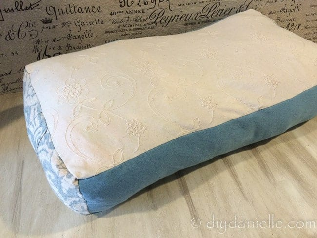 How To Sew A Yoga Bolster Pillow DIY Danielle New Sew Bolster Pillow Cover