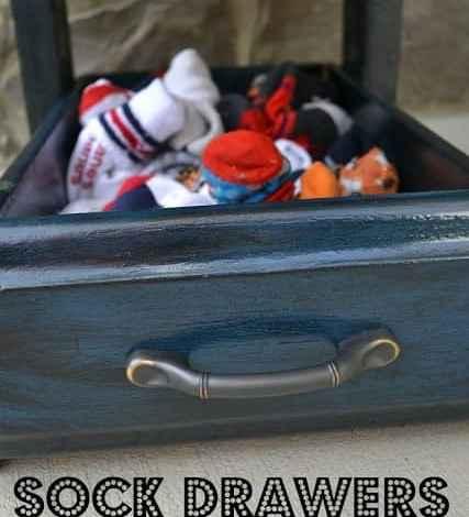 Sock Drawers for the Front Door (Repurposing Drawers)