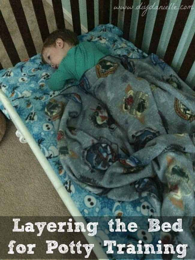 Layering the Bed for Potty Training - DIY Danielle