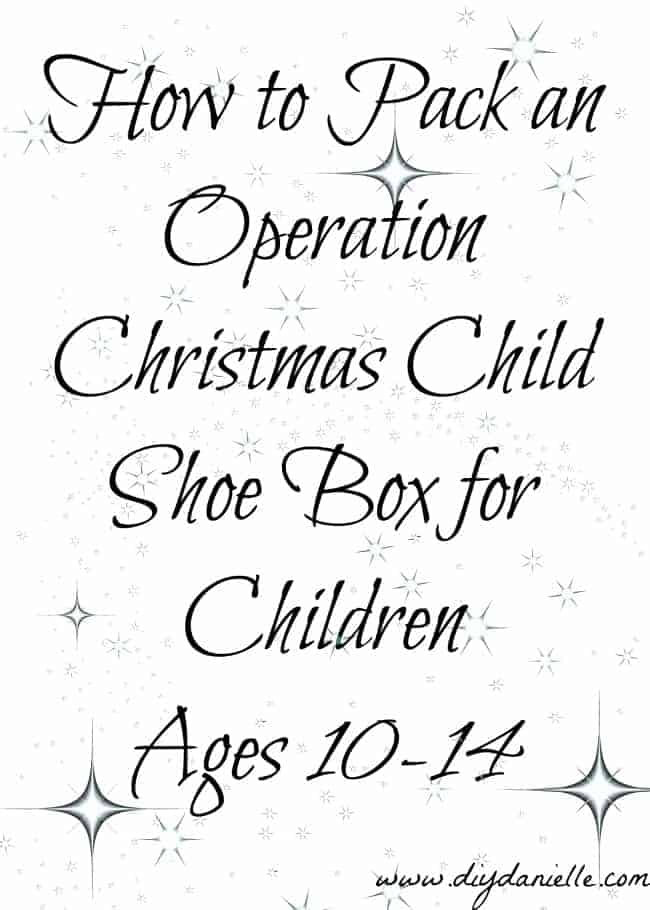 Packing shoe boxes for children ages 10-14 through Operation Christmas Child