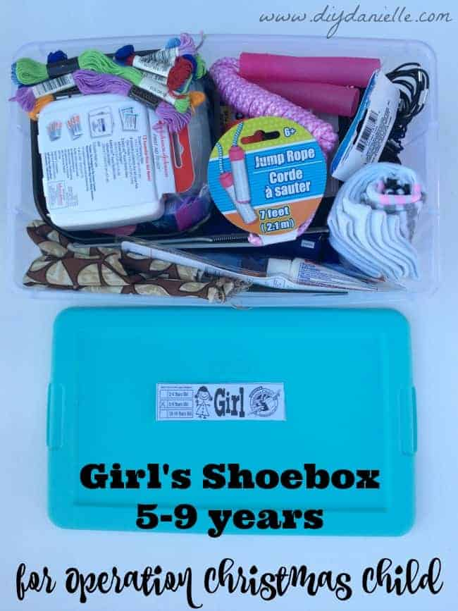 5-9 year old Girl's Shoe Box for Operation Christmas Child