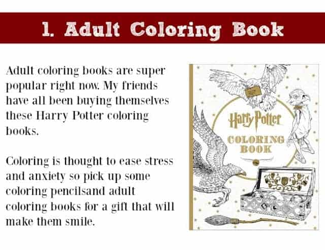 Holiday Gift Idea for Adults: Adult Coloring Book