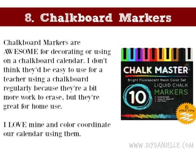 Holiday Gift Idea for Adults: Chalkboard Markers