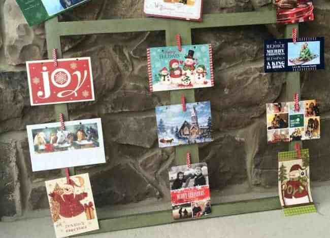 Easy DIY Holiday Card Display