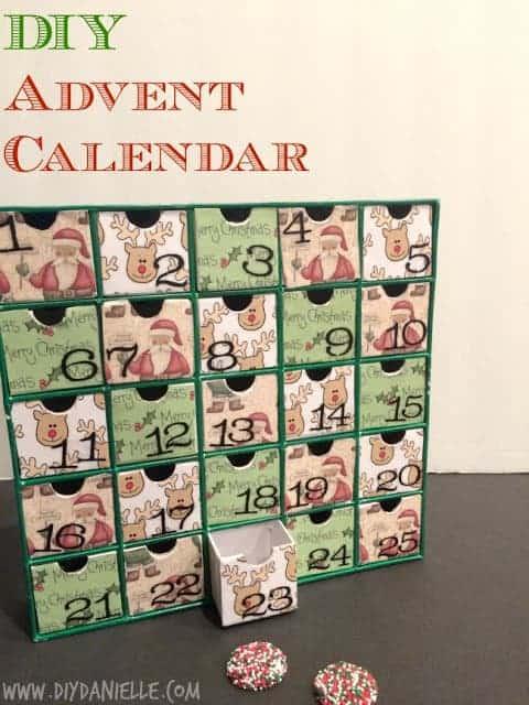Make your own easy DIY advent calendar.