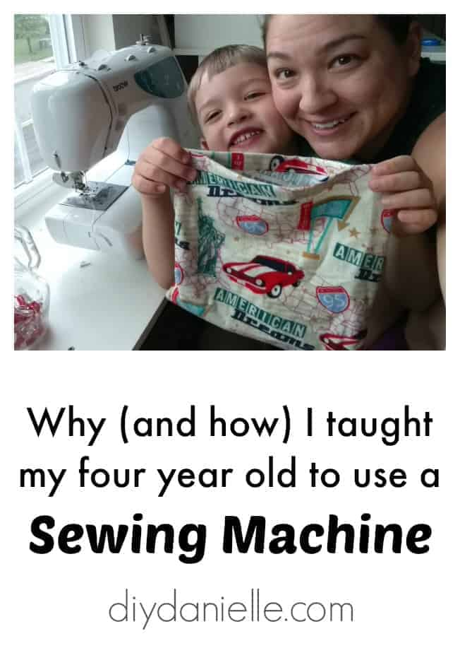 How and Why I taught my son to use a sewing machine.