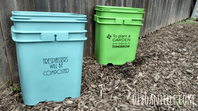 Upcycled Buckets into Planters!