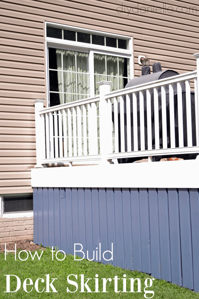 DIY deck skirting.