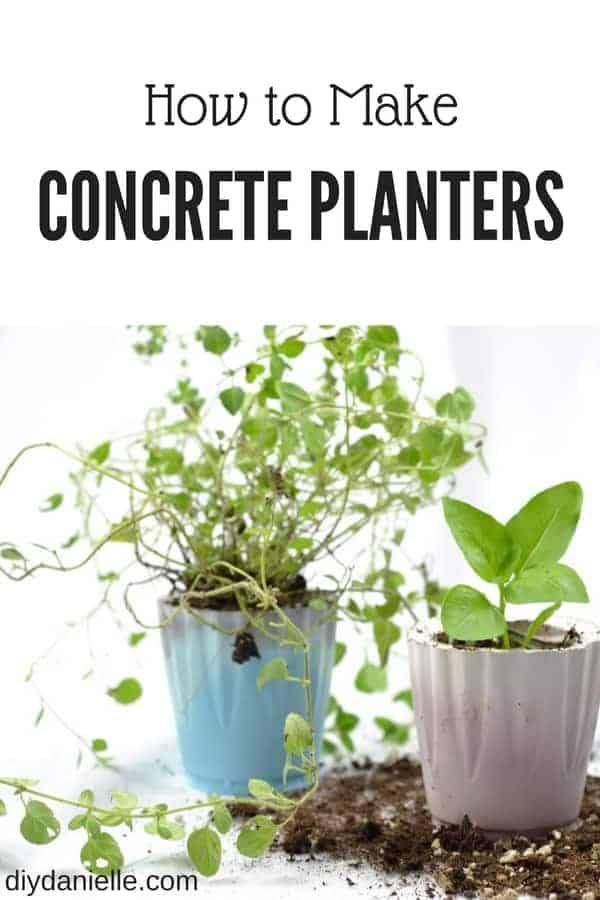 How to make concrete planters.
