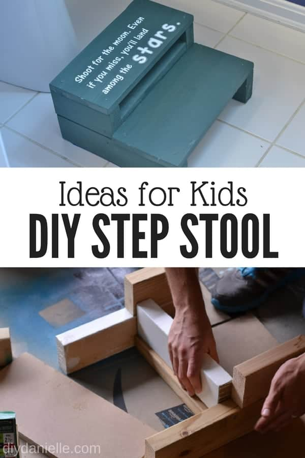 DIY step stool for kids. Learn how to make one easily with this tutorial.