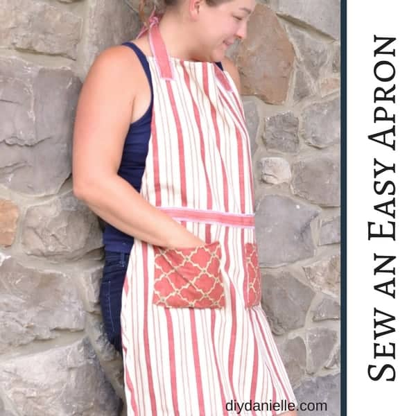 How to sew an easy women's apron using this free pattern.
