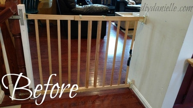 Before: Chewed Apart Dog Gate