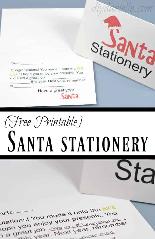 Get the Free Printable for Santa Stationery!