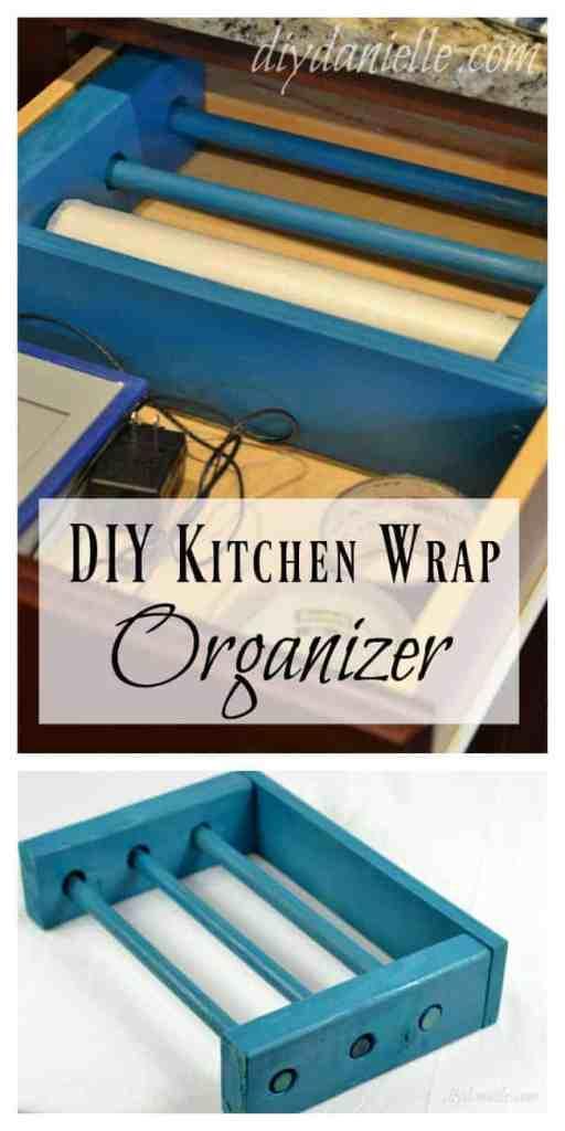 DIY Kitchen Wrap Organizer for a Drawer