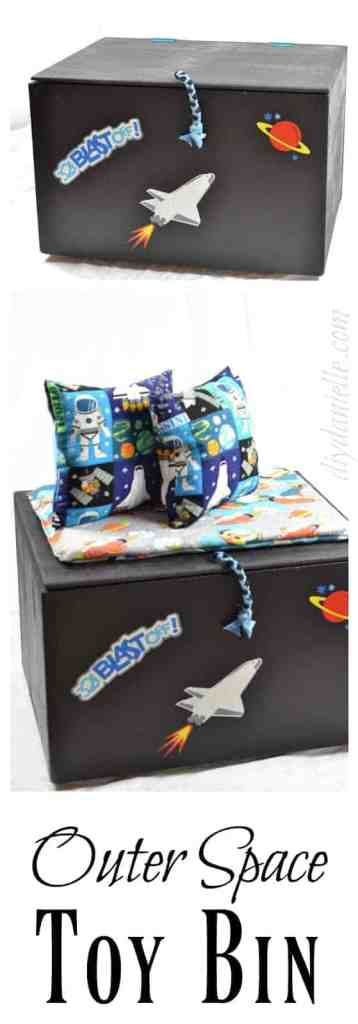 DIY Toy Box Makeover: Outer Space Themed