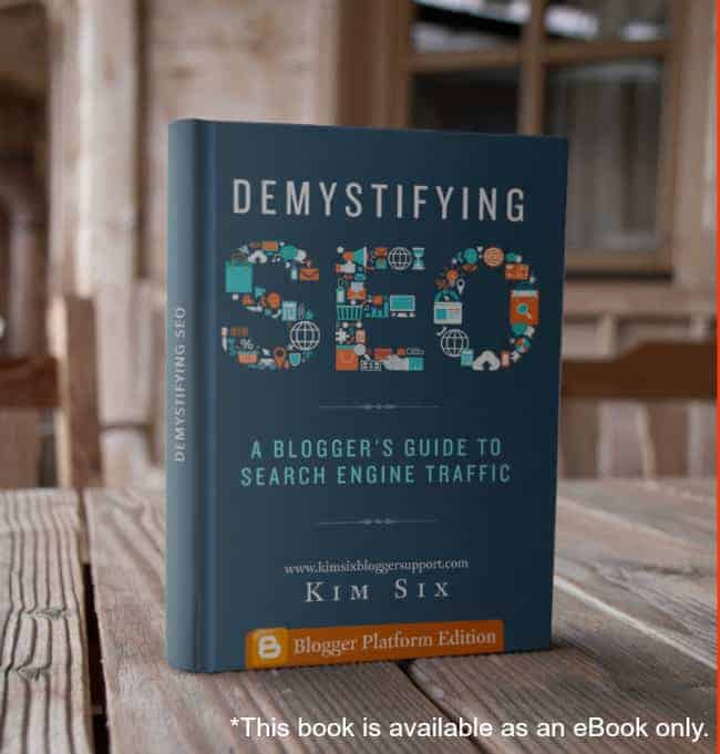 SEO book for Bloggers on Blogspot from Kim Six Fix