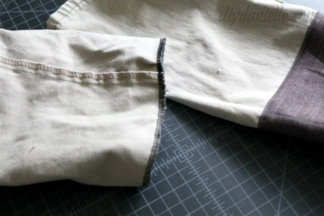 Repeat the whole process to attach the bottom portion and patch to the top portion of the pants.
