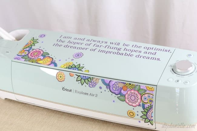 How to decorate the Cricut Air 2 with printable vinyl and more.