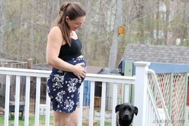 Sewing Easy Maternity Shorts for the Summer