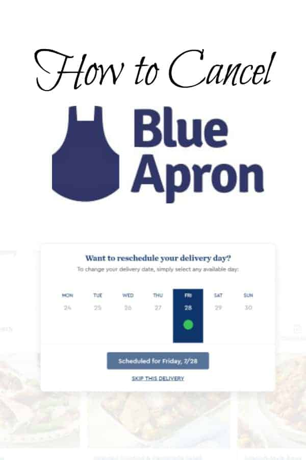 How to cancel your Blue Apron membership.