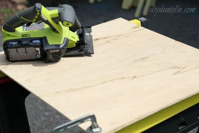 Custom sign: Wood before being cut in half