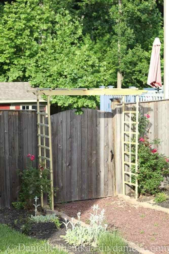 How to make a garden arbor for under $50.