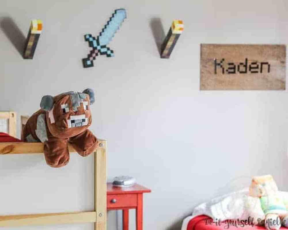 DIY Minecraft Bedroom