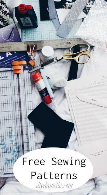 Get free sewing patterns and tutorials on diydanielle.com