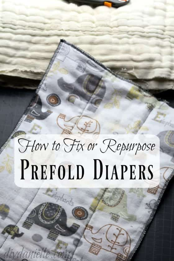 How to fix or repurpose prefold diapers.