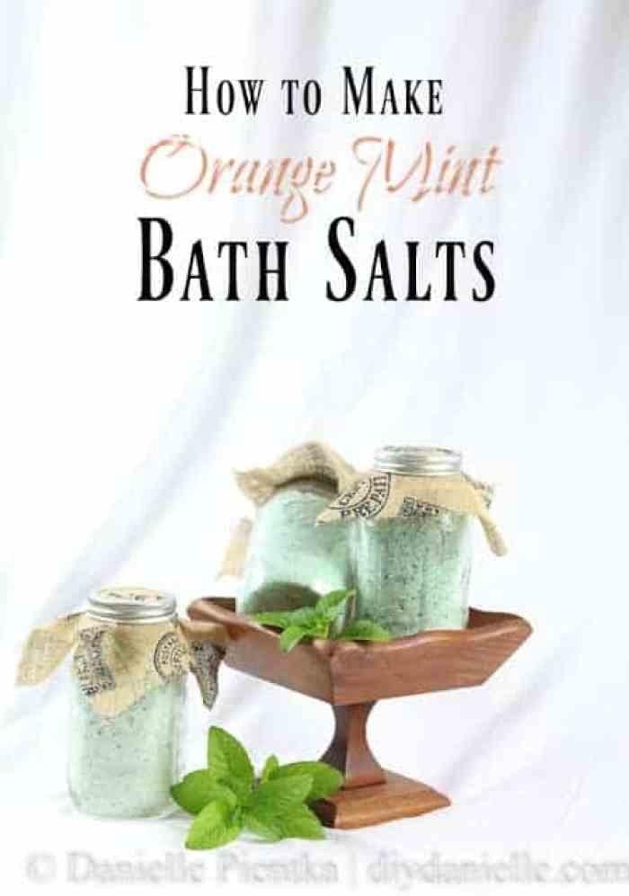 DIY Orange Mint Bath Salts