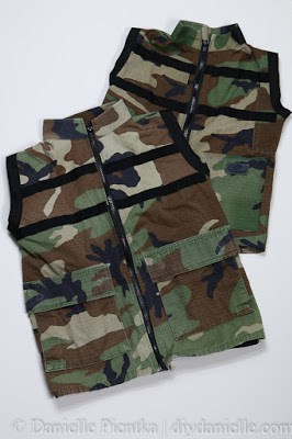 How to Sew Nerf Vests from Upcycled Fatigues