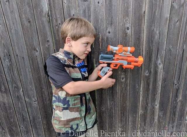 DIY Nerf Vest from Upcycled Camo
