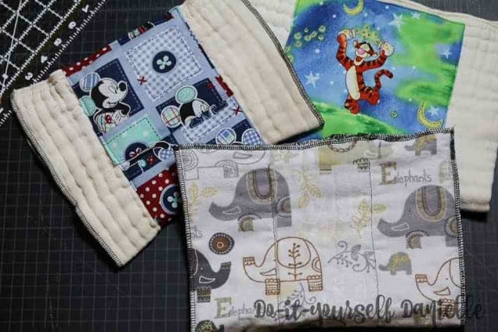 DIY burp cloths that are extra absorbent.