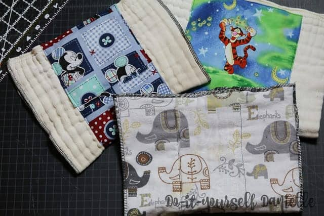 How to Sew Burp Cloths from Prefold Diapers