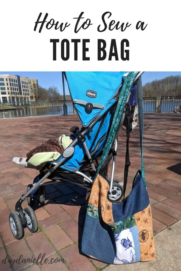 How to sew a tote bag. Use an upcycled zipper and fabric to make this easy hobo bag.