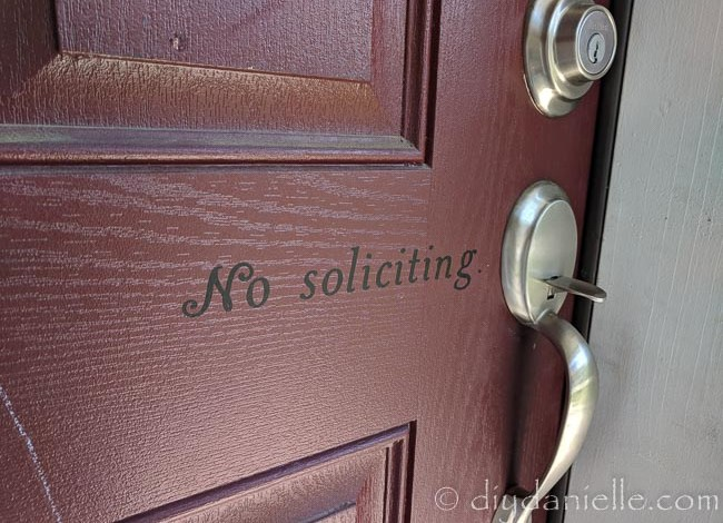 How to Make Your Own No Soliciting Sign