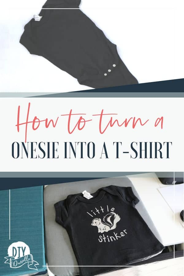 How to turn a onesie into a shirt so it will fit your baby longer.