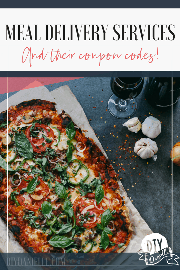 A comparison of meal delivery services and their coupon codes.