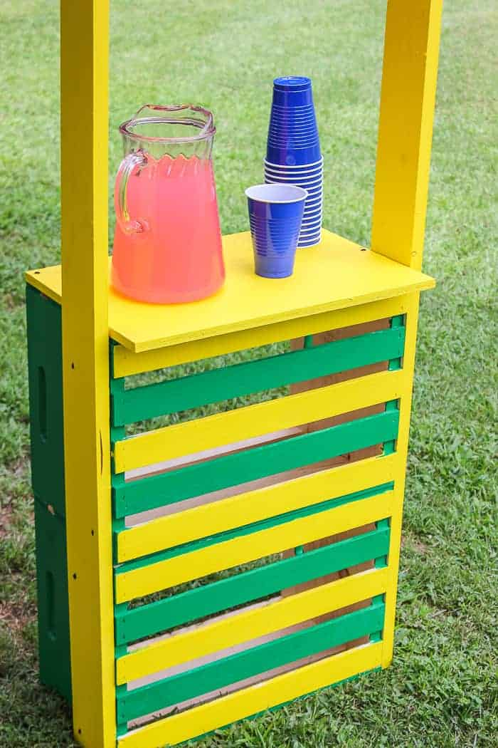 Lemonade stand for an outdoor kids space.