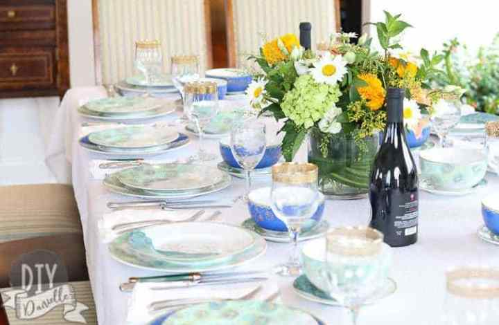 Creating a Peacock Tablescape for a Family Dinner