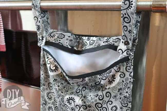 A kitchen wet bag with a PUL interior and a cotton exterior. No zipper. 0794f5e331