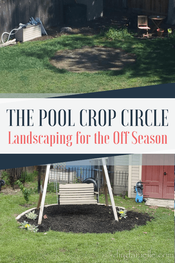 How to landscape the dead grass circle left by your pool during the off season.